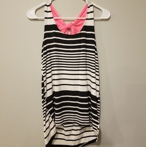 Pulse boutique tank with pink bow detail